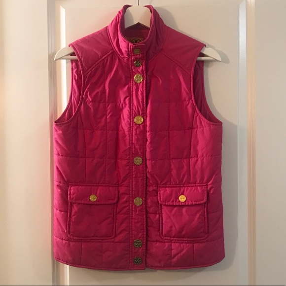 Tory Burch Hot Pink Quilted Vest